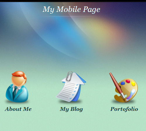 my mobile page wordpress