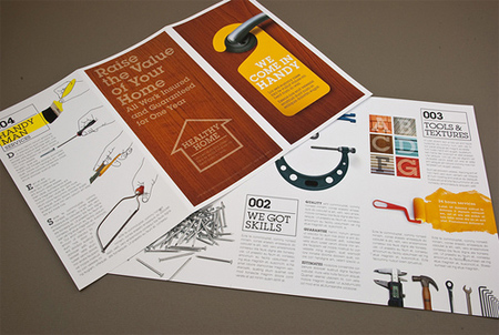 Home Maintenance Brochure with Wood Background