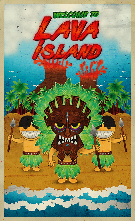 Create a Lava Island Scenario in Illustrator