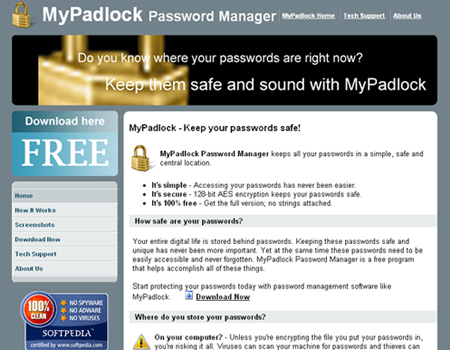 MyPadlock Password Manager
