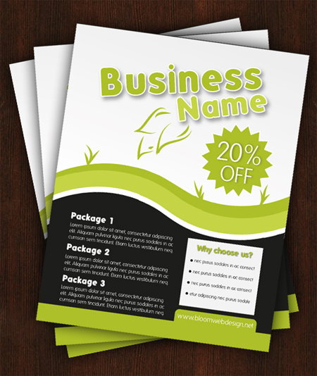 Create a Stylish Print Ready Flyer