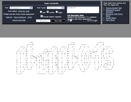 fancy text art generator