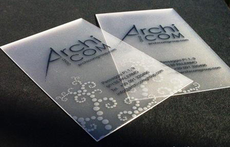 6 Transparent Business Card