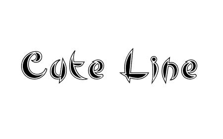 Cute Line font