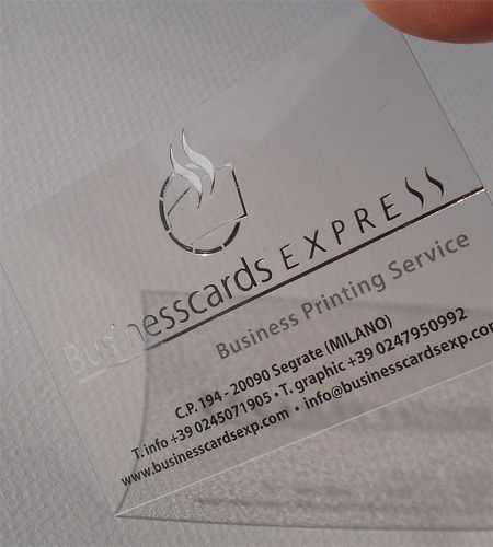 2 Transparent Business Card with Hot Foil Stamping