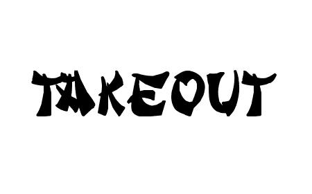 takeout font