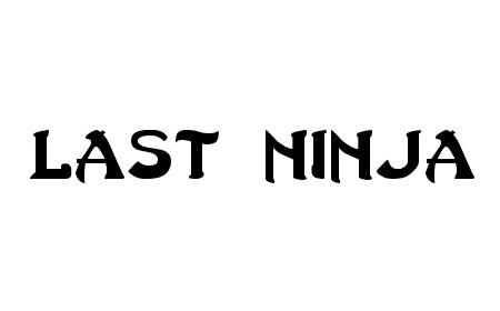 Last Ninja font