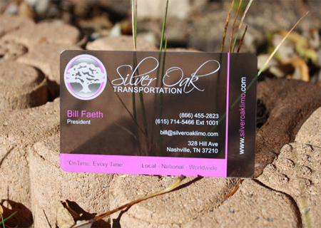 Tint Plastic Business Card