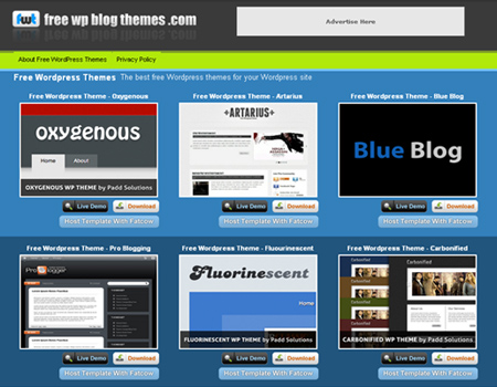 free wp blog themes.com