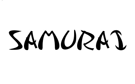 samurai font