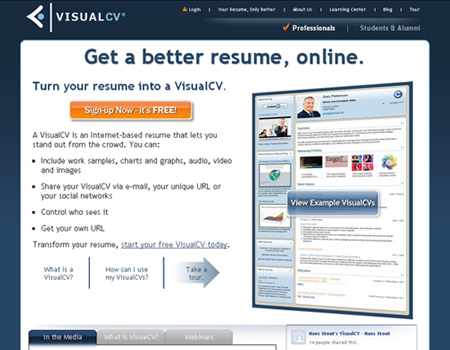 Free multimedia online resume