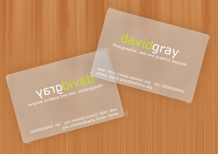 Transparent card mockup