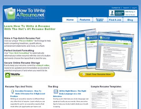 great websites to help you make a resume blueblots
