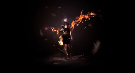 Design a Awesome Supernatural Dark Scene with Fiery Effect in Photoshop