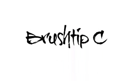 Brushtip C font