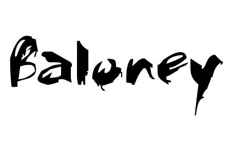 Baloney font