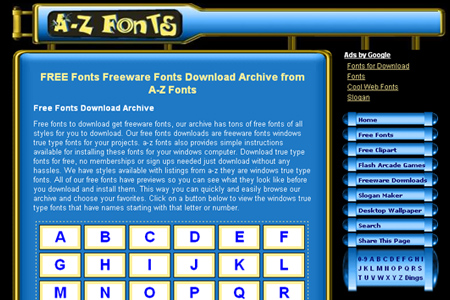 a-z fonts