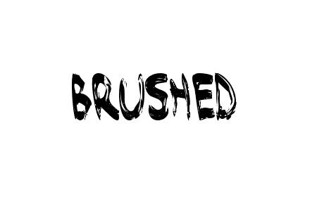 brushed font