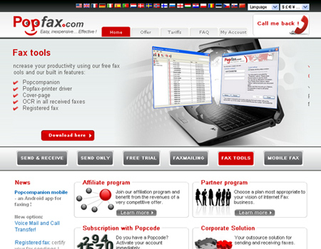 how to send fax to france for free online