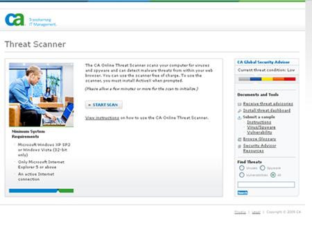 Computer Associates Threat Scanner
