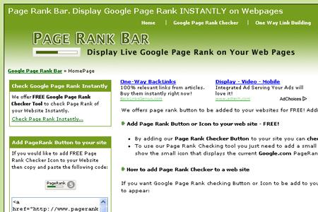 Page Rank Bar