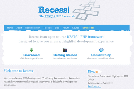recess php Framework