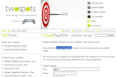 SEO Tools - Google PageRank Checker - Remote Script