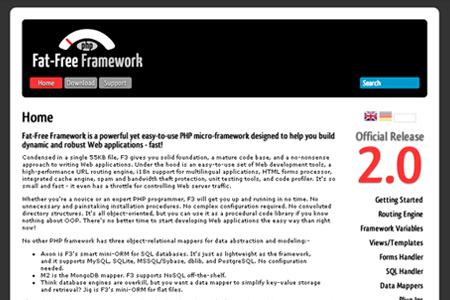 PHP fat-free Framework