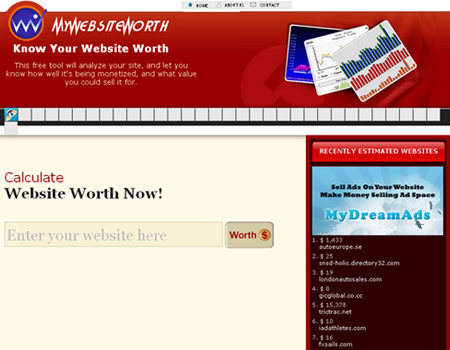 MyWebsiteWorth
