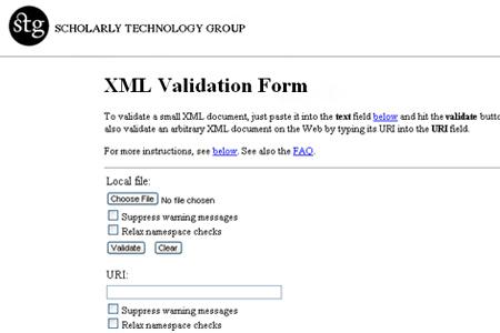 STG XML Validation