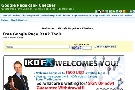 GooglePageRankChecker.info