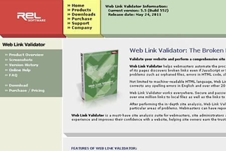 REL Software - Web Link Validator