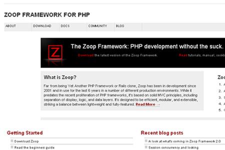zoop framework for PHP