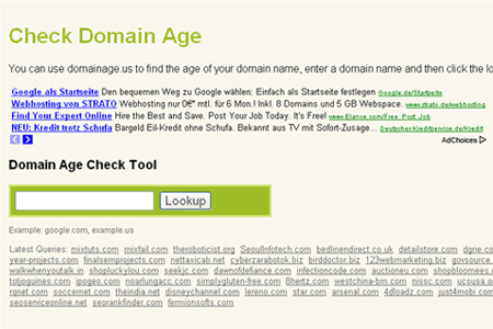 Domainage.us - Check Domain Age