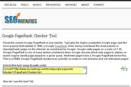 SEORankings - Google PageRank Checker Tool