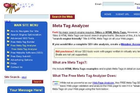 ScrubTheWeb - Meta Tag Analyzer