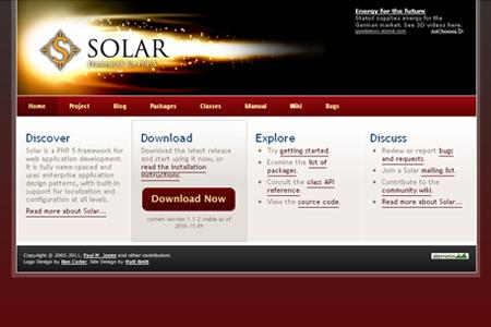 Solar Framework for PHP 5
