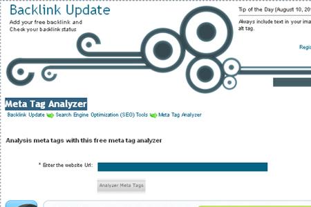BacklinkUpdate.com - Meta Tag Analyzer
