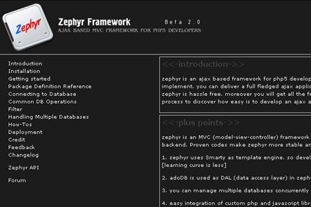 zephyr framework