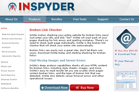 InSpyder - Broken Link Checker
