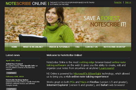 NoteScribe Online