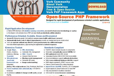 Vork Enterprise PHP Framework