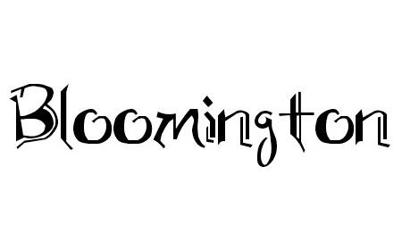 Bloomington font