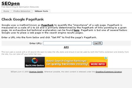 SEOpen - Check Google PageRank