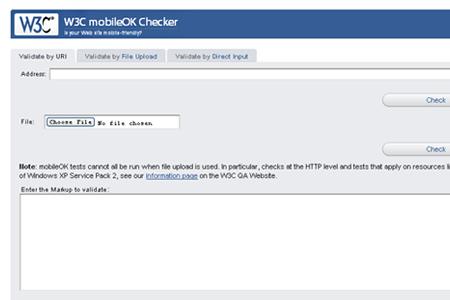 W3C mobileOK Checker