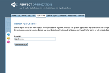 Perfect Optimization - Domain Age Checker