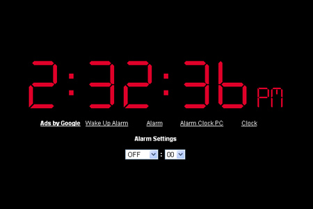 Online alarm clock youtube