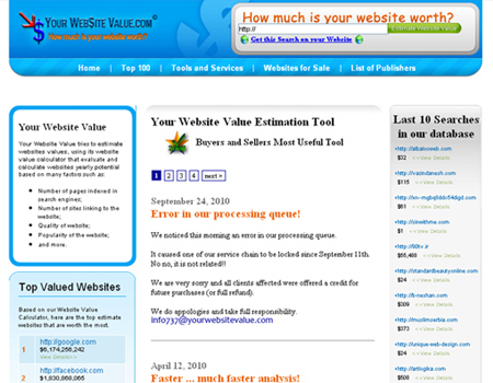 Your Website Value.com