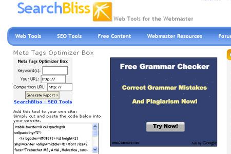 SearchBliss - Meta Tags Optimization Tool