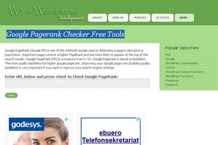 W4dev.com - Google Pagerank Checker Free Tools